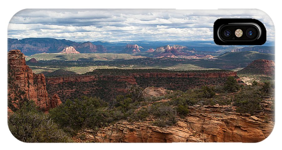 Bear Mountain IPhone X Case featuring the photograph Bear Mountain View Of Sedona by Steve Wile