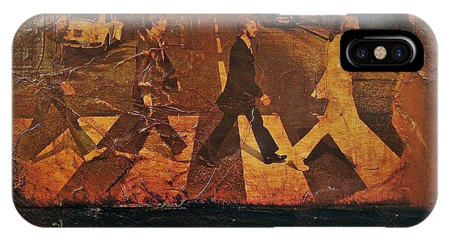 Beatles IPhone X Case featuring the mixed media Beatles Revisited by Roland Byrne