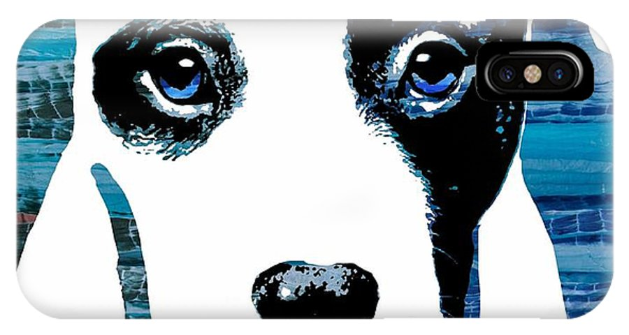 Nd IPhone X Case featuring the digital art Beautiful Pit by Cindy Edwards