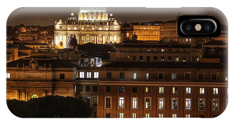 Rome IPhone X Case featuring the photograph Beautiful Roman Night by Michael Paskvan