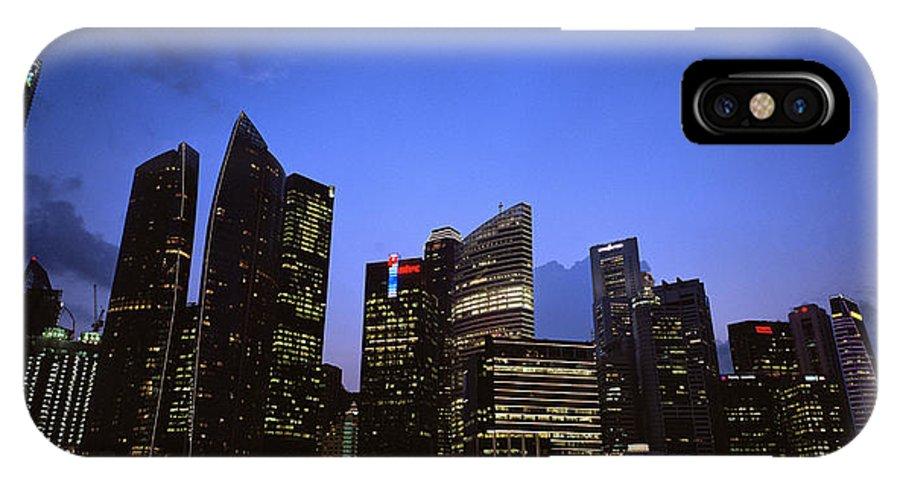 Marina IPhone X Case featuring the photograph Beautiful Singapore by Shaun Higson