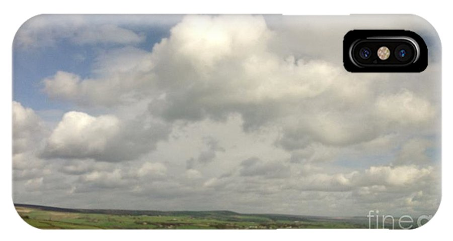 Yorkshire IPhone X Case featuring the photograph White Clouds Over Yorkshire Dales by Joan-Violet Stretch