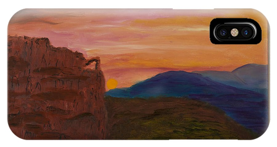 IPhone X Case featuring the painting Beautiful Sunset by Margaret Pappas