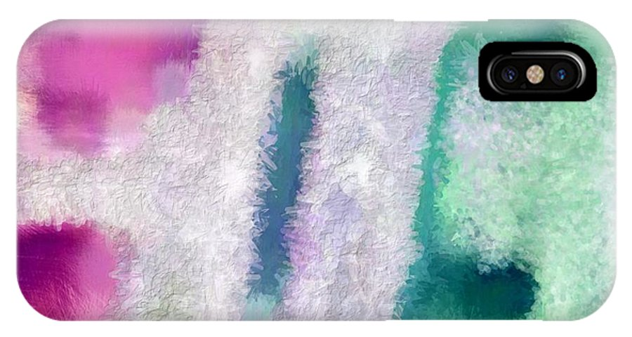 Abstract IPhone X Case featuring the digital art Beautiful Teal by Holley Jacobs