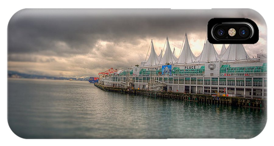 Canada Place IPhone X Case featuring the photograph Beautiful Vancouver by Les Lorek