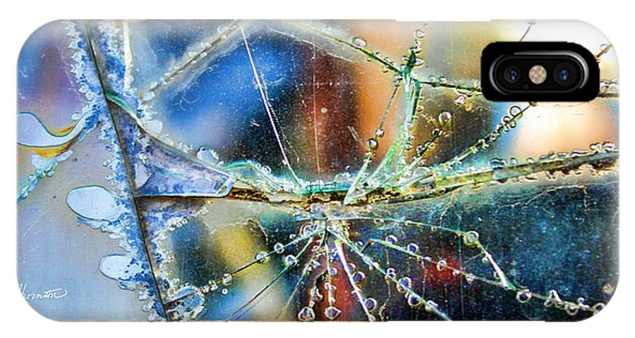 Abstract Art IPhone X Case featuring the photograph Beautifully Broken Framed by Sylvia Thornton