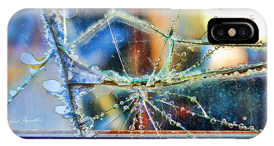 Abstract Art IPhone X Case featuring the photograph Beautifully Broken by Sylvia Thornton