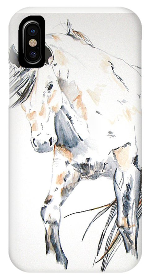 Horse IPhone X / XS Case featuring the painting Beauty by Crystal Hubbard