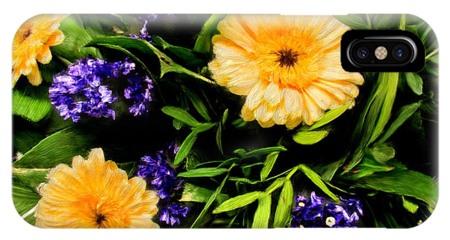 Flowers IPhone X Case featuring the painting Beauty In The Gardem by Bruce Nutting