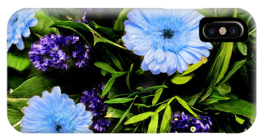 Flowers IPhone X Case featuring the painting Beauty In The Garden by Bruce Nutting