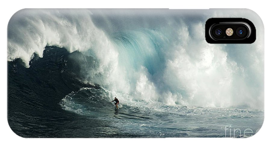 Surf IPhone X Case featuring the photograph Beauty Of Surfing Jaws Maui 7 by Bob Christopher