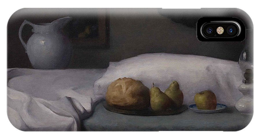 Still Life IPhone X Case featuring the painting Bed Of Abundance by Dana Levin