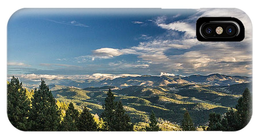 Colorado IPhone X Case featuring the photograph Panoramic View Of The Foothills by Lowell Monke