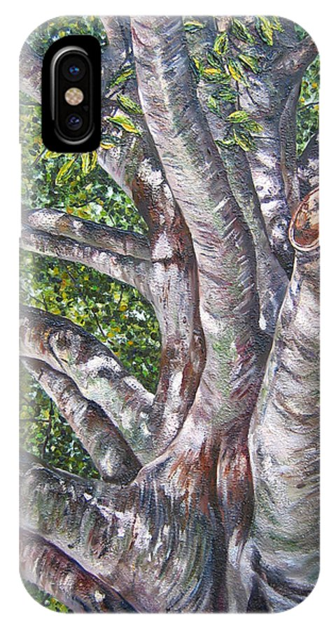 Trees IPhone X / XS Case featuring the painting Beech by Kim Wild