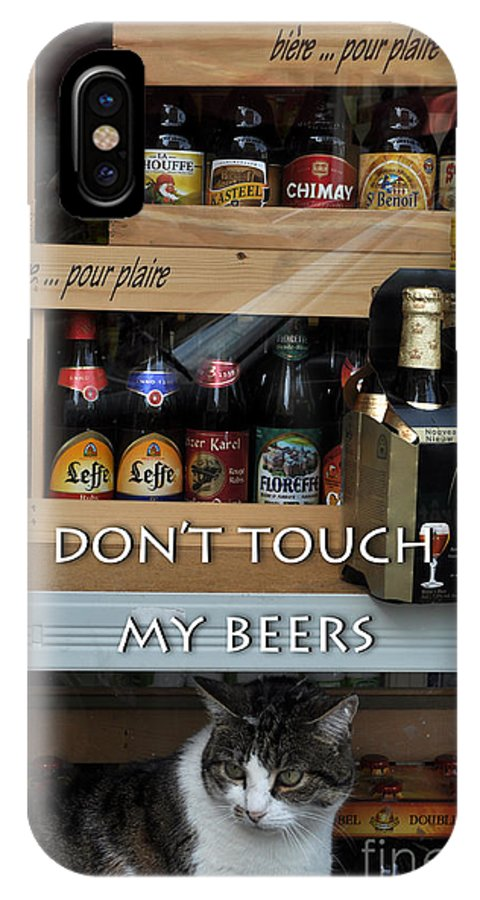 Beer IPhone X Case featuring the photograph Beers Warden by Simona Ghidini