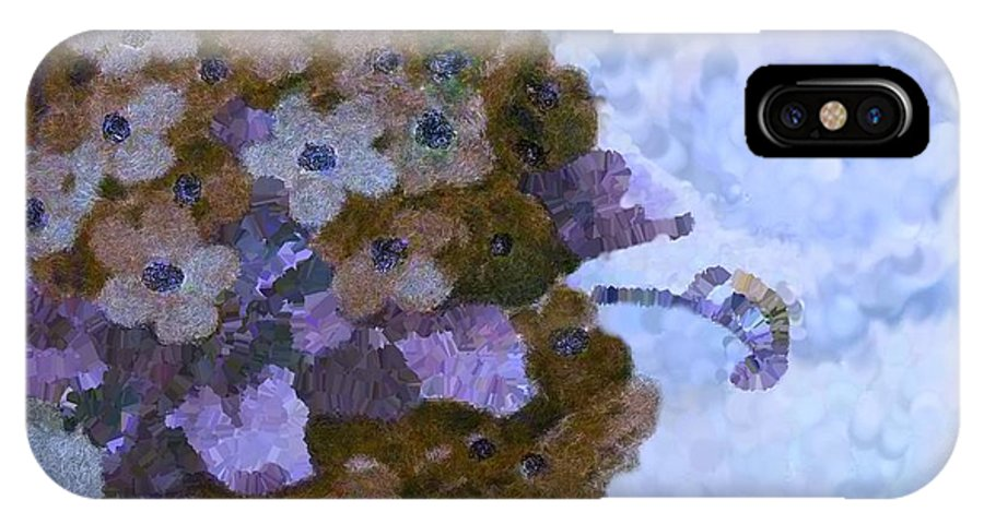 Blue IPhone X Case featuring the digital art Bees And Knees Blue by Holley Jacobs