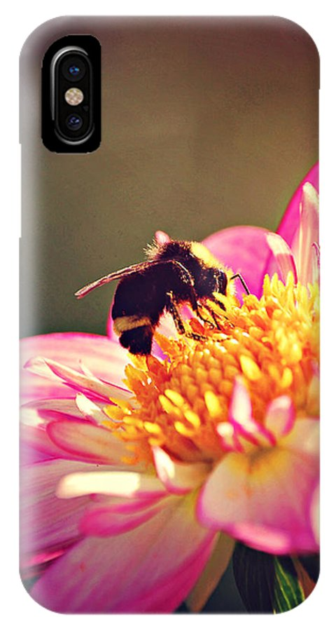 Bee IPhone X Case featuring the digital art Beeutiful by Chelsea Tornga