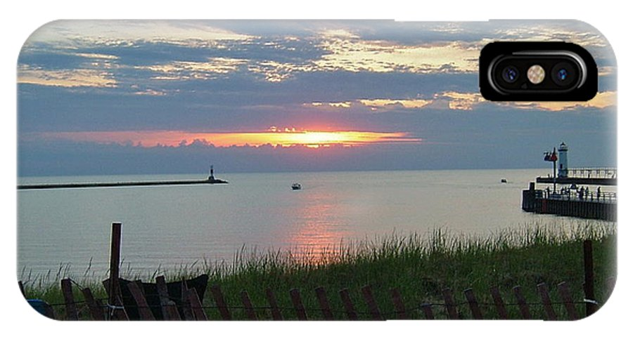 Manistee IPhone X Case featuring the photograph Before The Fireworks by Susan Wyman