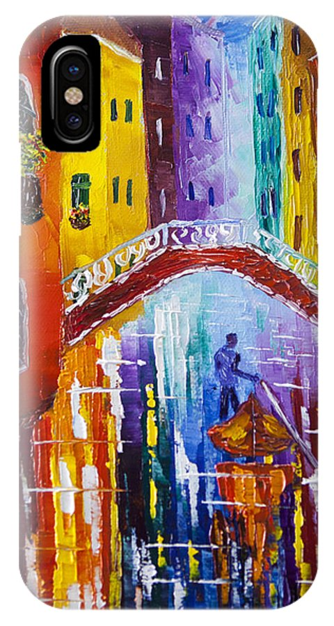Venice IPhone X Case featuring the painting Before The Midnight by Natasha Petrosova