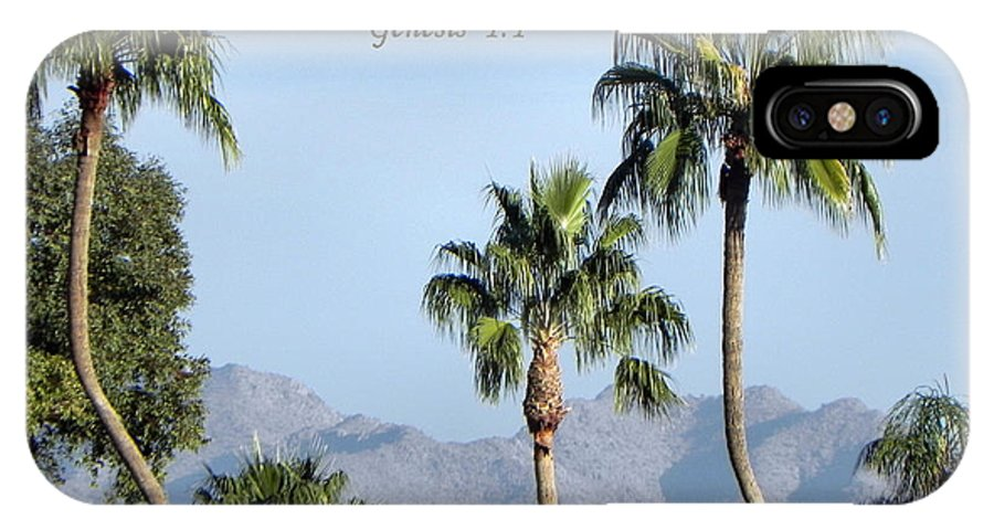 Palm Trees IPhone X Case featuring the photograph Beginning by Deb Halloran