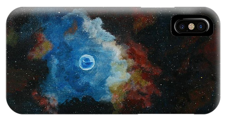 Givens IPhone X Case featuring the painting Beginnings by DM Givens