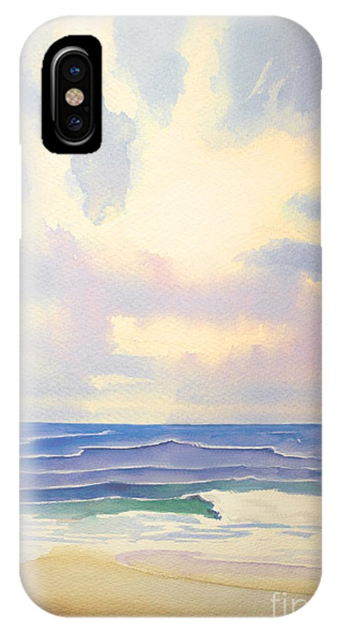 Seascape IPhone X Case featuring the painting Behold The Glory by Barbara McMahon