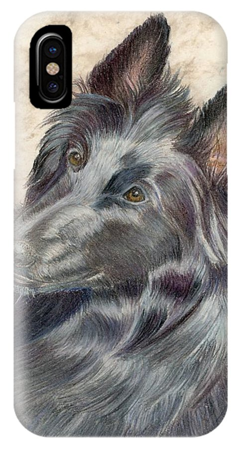 Animals IPhone X Case featuring the painting Belgian Sheepdog by Ruth Seal