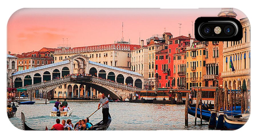Canal Grande IPhone X Case featuring the photograph La Bella Canal Grande by Inge Johnsson