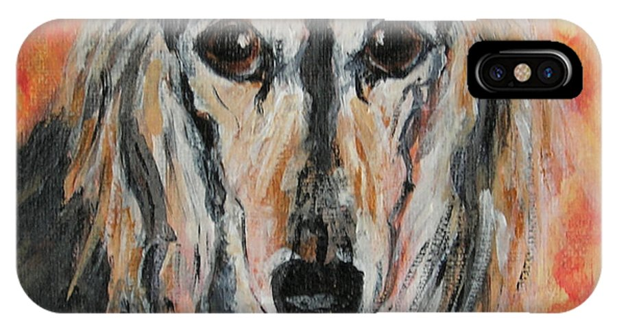 Saluki IPhone X Case featuring the painting Bella by Cori Solomon