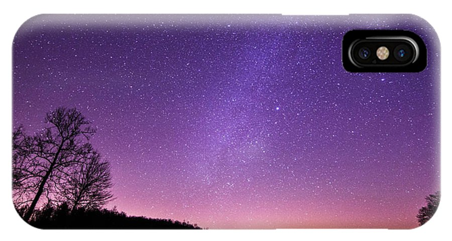 Below The Milky Way At The Lake. Milky Way IPhone X Case featuring the photograph Below The Milky Way by Robert Loe