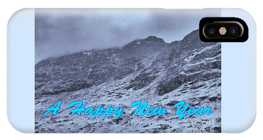 Mountains IPhone X Case featuring the photograph Ben Nevis Happy New Year Greeting by Joan-Violet Stretch