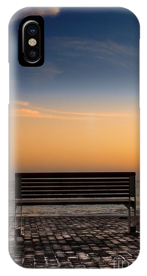 Bench IPhone X Case featuring the photograph Bench by Stelios Kleanthous