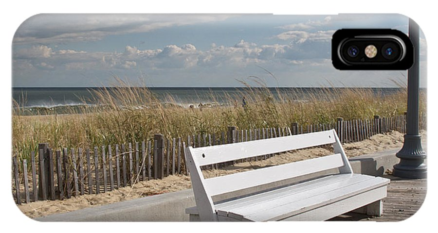 Bench IPhone X Case featuring the photograph Bench Warmer by Arlene Carmel