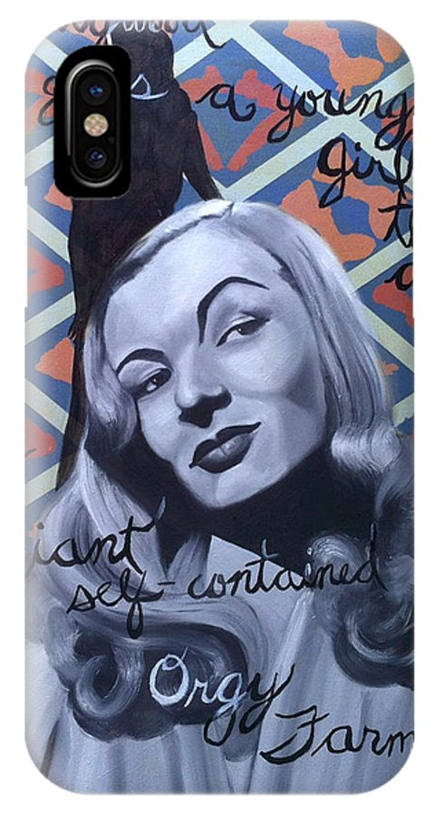 Veronica Lake IPhone X Case featuring the painting Benchmark Of Beauty II by Nique Arr