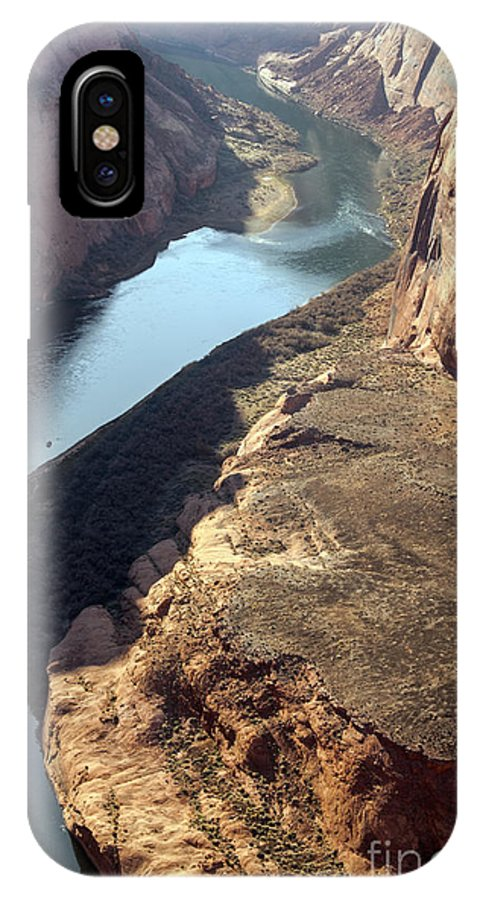 Horseshoe Bend Overlook Glen Canyon National Recreation Area Arizona Colorado River Rivers Water Red Rock Sand Sandstone Landscape Landscapes IPhone X Case featuring the photograph Bend In The Colorado River by Bob Phillips