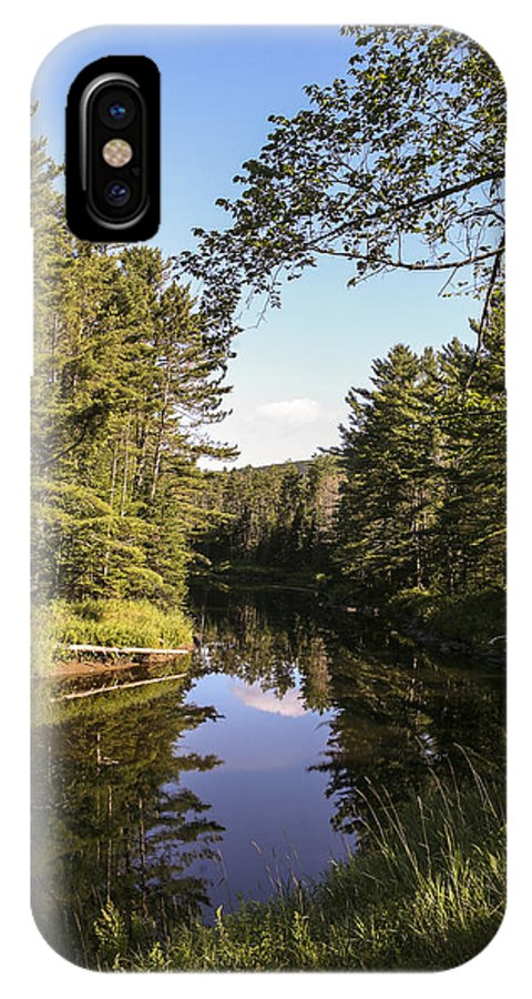 River Adirondack IPhone X Case featuring the photograph Bend In The River by Eric Swan