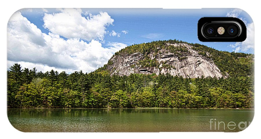 Nature IPhone X Case featuring the photograph Beneath Cathedral Ledge by K Hines