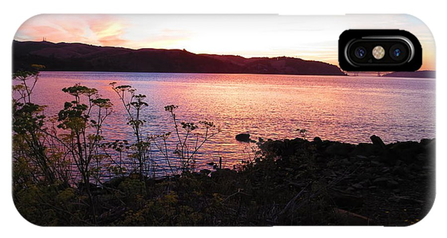 Colors IPhone X Case featuring the photograph Benicia Shoreline by Brian Maloney