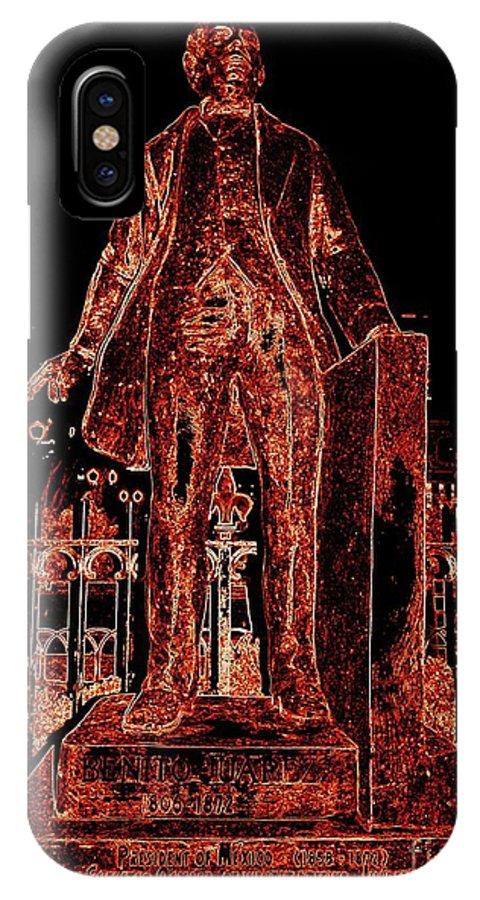 Pop Art IPhone X Case featuring the photograph Benito Juarez by Ed Weidman