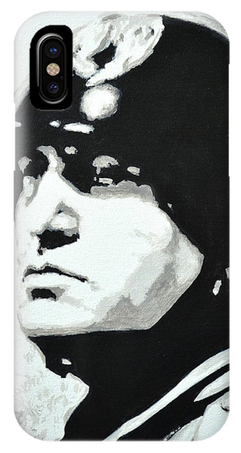 Benito Mussolini IPhone X Case featuring the painting Benito Mussolini by Victor Minca