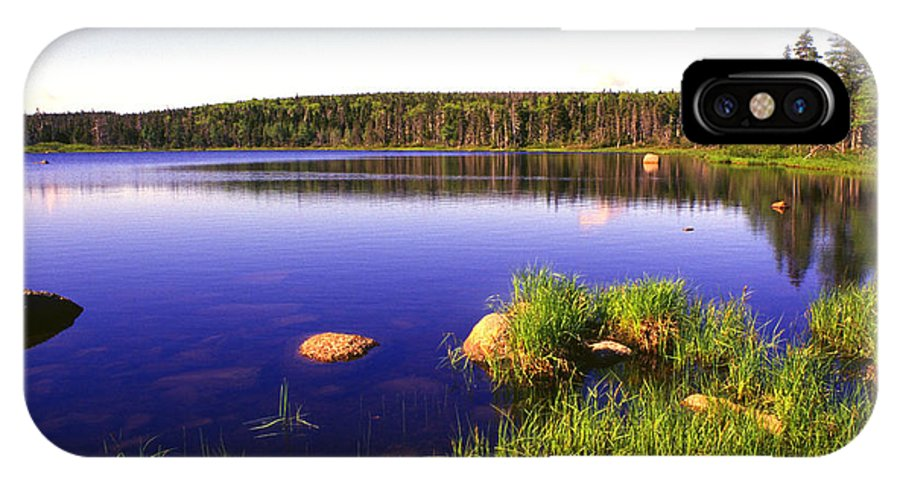 Benjies Lake IPhone X Case featuring the photograph Benjies Lake Cape Breton Island by Thomas R Fletcher