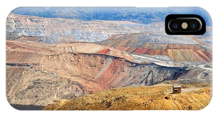 Butte IPhone X Case featuring the photograph Berkeley Pit by Image Takers Photography LLC - Carol Haddon