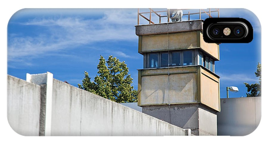 Berlin IPhone X Case featuring the photograph Berlin Wall Memorial A Watchtower In The Inner Area by Michal Bednarek