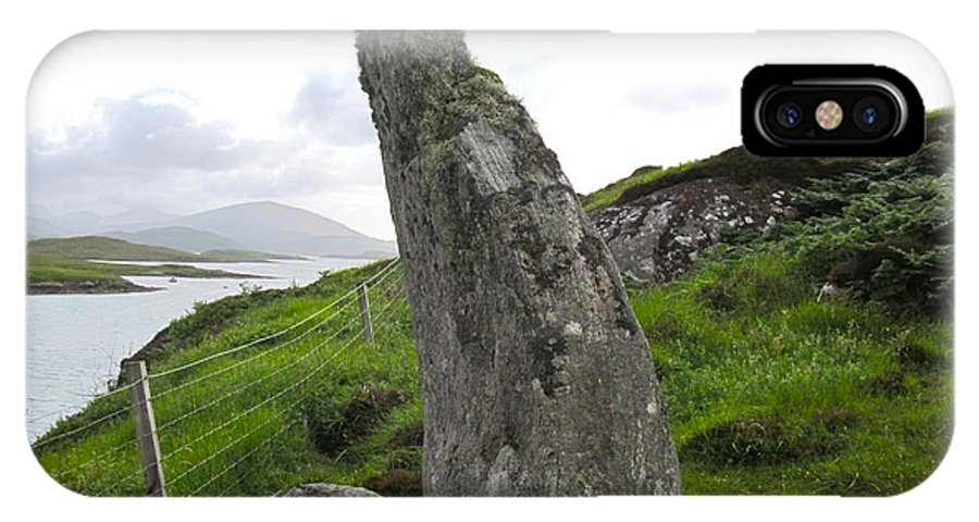Bernera IPhone X Case featuring the photograph Bernera Stone Near Water by Denise Mazzocco