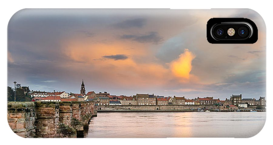 Northumberland IPhone X Case featuring the photograph Berwick And Its Old Bridge by David Head