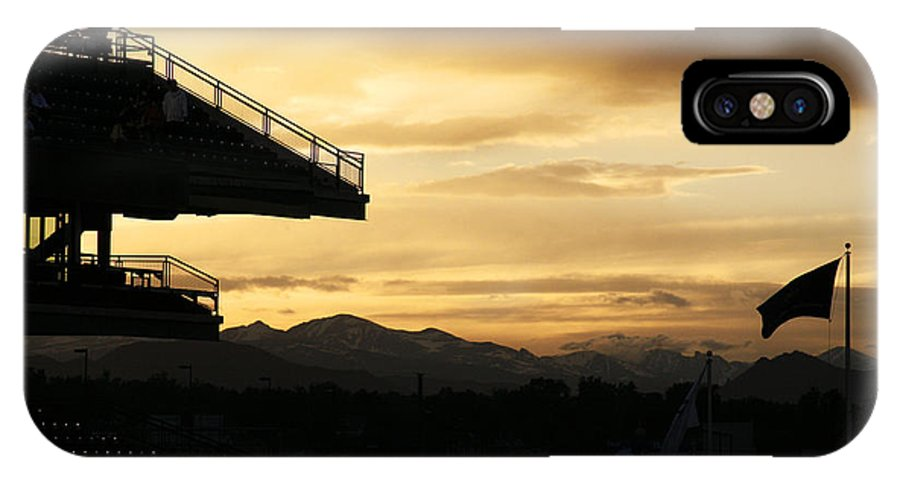 Americana IPhone X Case featuring the photograph Best View Of All - Rockies Stadium by Marilyn Hunt