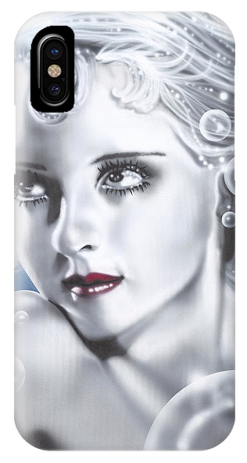 Bette Davis IPhone Case featuring the painting Bette Davis by Alicia Hayes