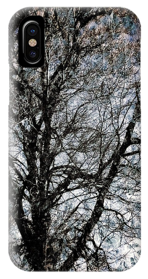 Beautiful Paintings IPhone X Case featuring the digital art Between Heaven And Earth Expressionism Art by Miss Dawn