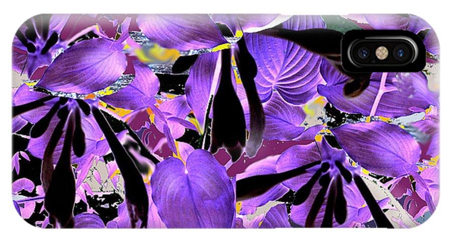 Beware The Midnight Garden IPhone X Case featuring the digital art Beware The Midnight Garden by Seth Weaver