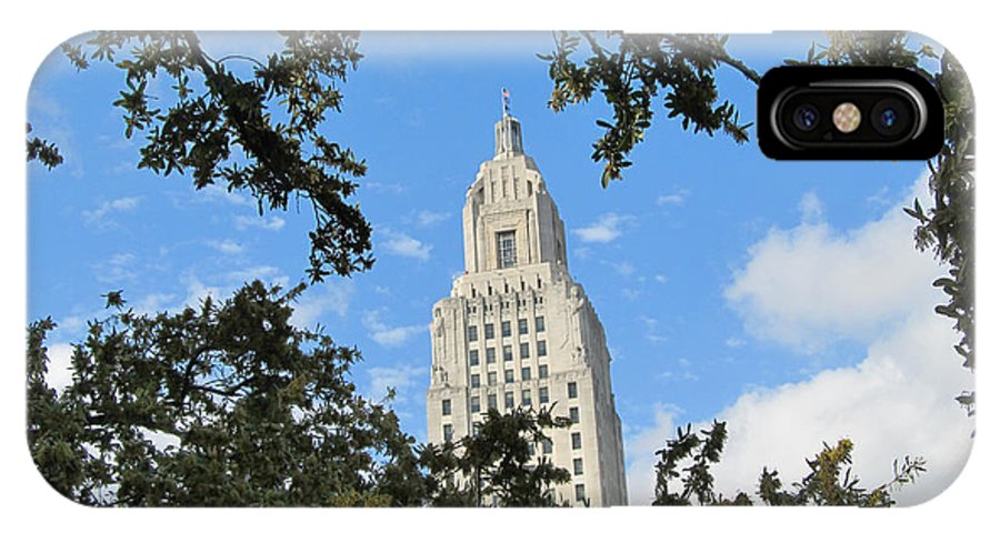 Louisiana State Capitol IPhone X Case featuring the photograph Bewreathed by Hal Gould